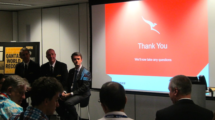 Qantas's briefing for the VH-OJA delivery flight.