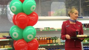Virgin Australia launched their partnership with BP at a petrol station in Sydney's inner west. (Jordan Chong)
