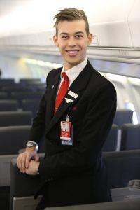 Network Aviation's new uniform for male staff members. (Brenden Scott)