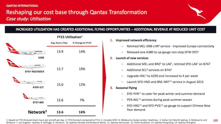 qantas plans further reduction in turnaround times as part