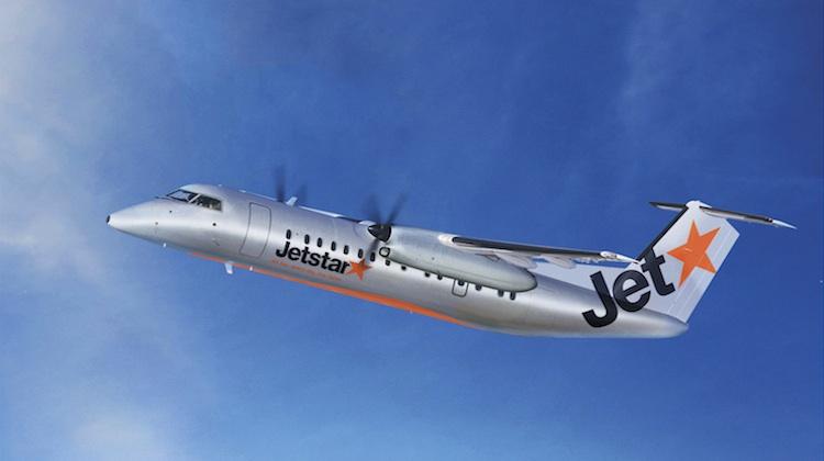 An artist's impression of a Bombardier Q300 in Jetstar colours. (Jetstar)