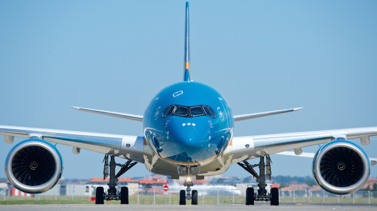 Vietnam Airlines takes delivery of its first A350-900 at Toulouse. (Airbus)