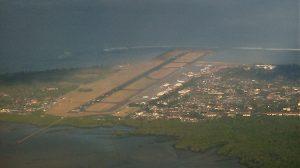 An aerial image of Ngurah Rai Airport in Bali taken in 2008 (Craig/Wikimedia Commons)
