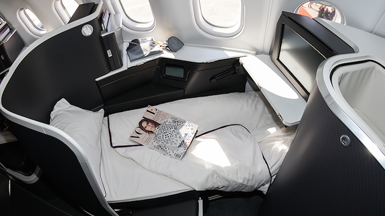 Virgin Australia's new A330-200 business class service to Perth will feature  turndown service including memory foam mattress toppers, pillows and donnas. (Seth Jaworski)