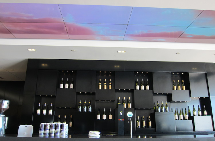 "The bar offers not just drinks and barista coffee but also a ""digital ceiling"". (Jordan Chong)"