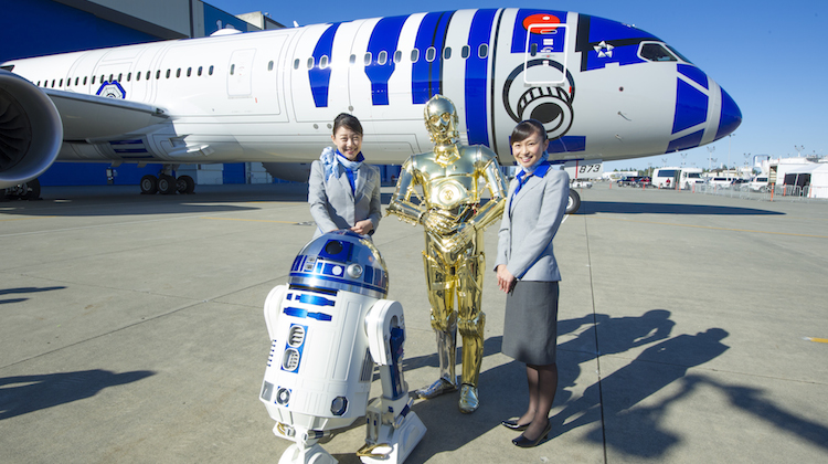 Ana Star Wars 787 9 Rolls Out Of Boeing Factory