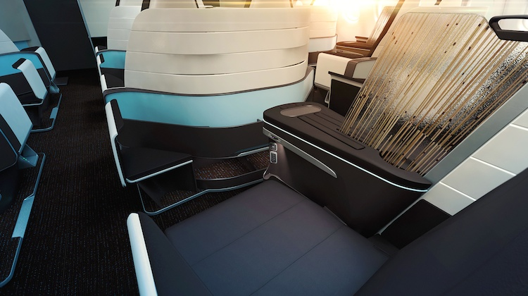 A supplied image of Hawaiian Airlines new business class seat. (Hawaiian Airlines)