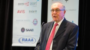 Deputy Prime Minister and Minister for Infrastructure and Regional Development Warren Truss at the RAAA national convention. (Seth Jaworski)