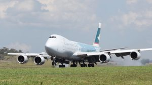 Lenn Bayliss Cathay Pacific 747-8 arrival Wellcamp Airport 223 Nov 15-10