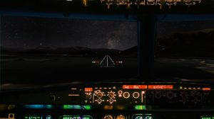 A supplied image of a simulated evening approach into Queenstown Airport. (Queenstown Airport Corporation)
