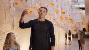An image from the Qantas safety video featuring Hobart's Museum of Old and New Art. (Qantas/Youtube)