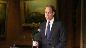 Prince William, the Duke of Cambridge speaking at the United for Wildlife signing ceremony at Buckingham Palace. (Buckingham Palace)