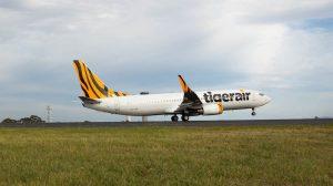 Tigerair Australia Boeing 737-800 VH-VOR operating the airline's inaugural flight Bali. (Tigerair Australia)