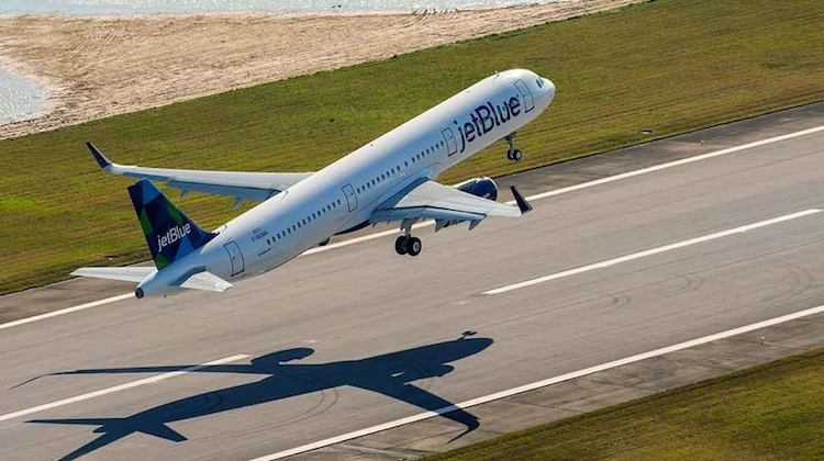 A file image of a Jetblue Airbus A321 taking off. (Airbus)