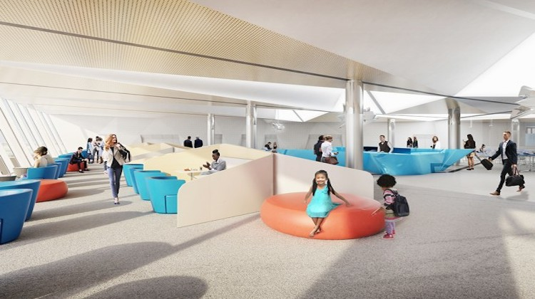 An artist's impression of Canberra Airport's new international terminal. (Canberra Airport)