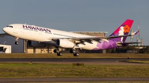 Hawaiian Airlines Airbus A330-200 H380HA takes off from Brisbane. (Aaron Taylor)