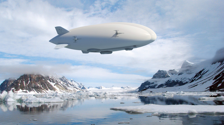 An artist impression of Lockheed Martin's hybrid airship. (Lockheed Martin)