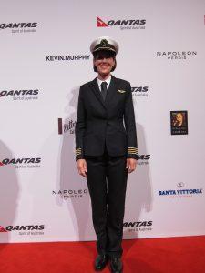 Qantas pilot Captain Debbie Slade modelling the new uniform. (Jordan Chong)
