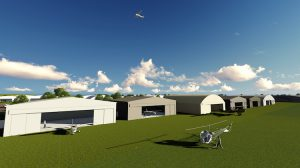 An artist's impression of Cowra Airport's new aviation development. (Cowra Shire Council)