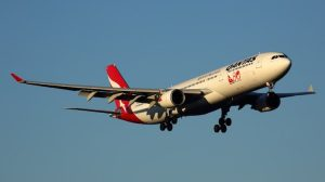 A file image of a Qantas Airbus A330-300 on approach to Melbourne Airport. (Rob Finlayson)