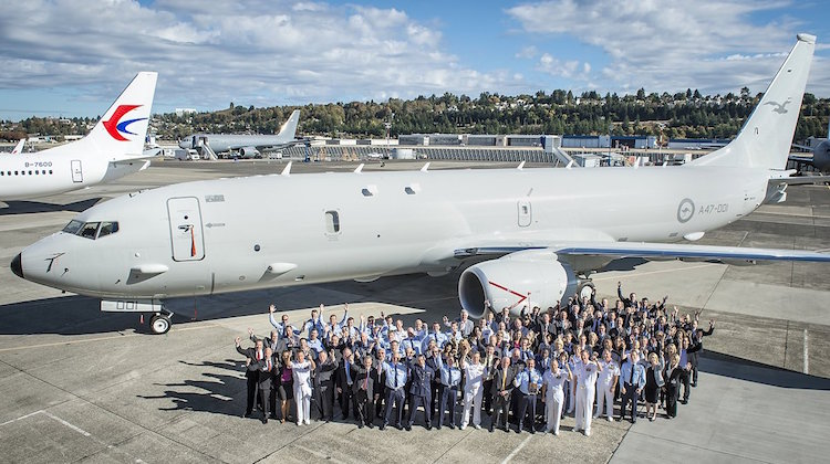 The RAAF's first P-8A Poseidon has made its debut. (Boeing Defense, Space & Security)