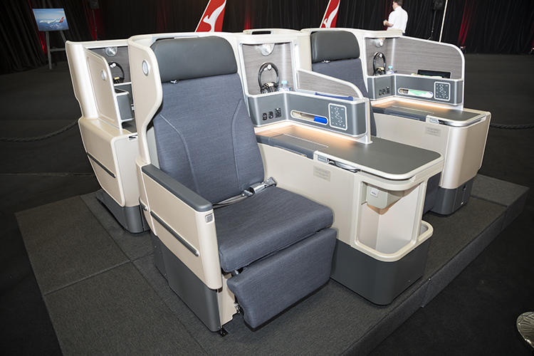 The business class seats for the Qantas Boeing 787-9 are an evolution of what was installed on the bulk of the A330 fleet. (Seth Jaworski)
