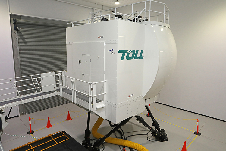 The Toll Helicopter training centre at Bankstown Airport. (Paul Sadler)