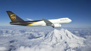 A supplied image of a Boeing 747-8F in UPS livery. (Boeing)