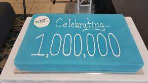 Sunshine Coast Airport cake for one million passengers. (Sunshine Coast Airport)