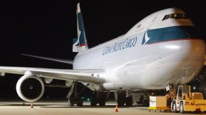 Cathay Pacific Boeing 747-8F B-LJM at Brisbane West Wellcamp Airport. (Wellcamp)