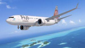 An artist's impression of the Boeing 737 MAX 8 in Fiji Airways livery. (Fiji Airways/Boeing)