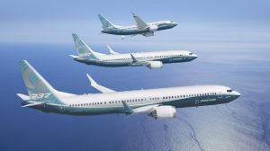 A supplied image of Boeing 737 MAX 7, 8 and 9 artwork. (Boeing)