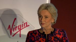 A screenshot of Virgin Australia chairman Elizabeth Bryan on the webcast of the company's annual general meeting. (Virgin Australia)