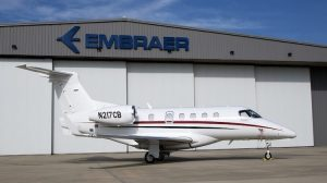 A supplied image of the first Embraer Executive Jets Phenom 300 for Australia. (Embraer)