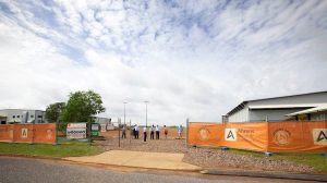 The site of the new base at Darwin Airport. (RFDS Central Operations/Twitter)