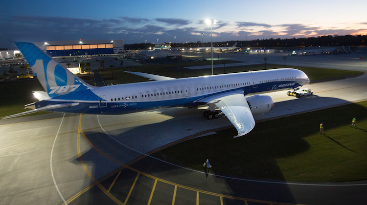 Airlines that fly to Australia and/or New Zealand who have ordered the 787-10 include Singapore Airlines, Etihad Airways and All Nippon Airways. (Boeing)