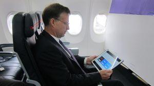 Virgin Australia will begin a trial of in-flight internet wifi from mid-April 2017. (Jordan Chong)