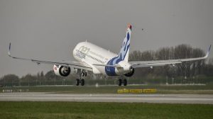 The Airbus A319neo takes off. (Airbus)