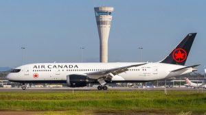 Air Canada Boeing 787-8 C-GHPQ at Brisbane Airport. (Nathan Sieben)