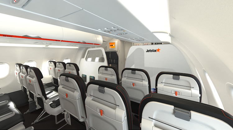 A supplied image of the Recaro seats to be installed on Jetstar Australia and New Zealand's Airbus A320s. (Jetstar)