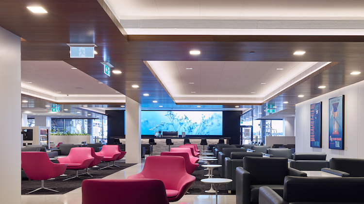 Air New Zealand's refurbished Melbourne Tullamarine lounge. (Air New Zealand)