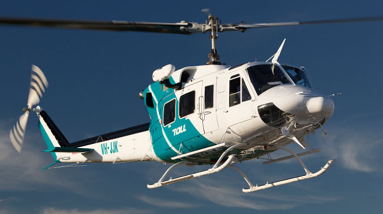 One of Toll Helicopters' Bell 212s, VH-JJK. (Toll Helicopters)