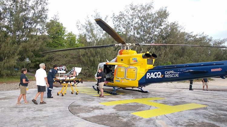 A supplied image of an RACQ Capricornia helicopter rescue service. (Babcock)
