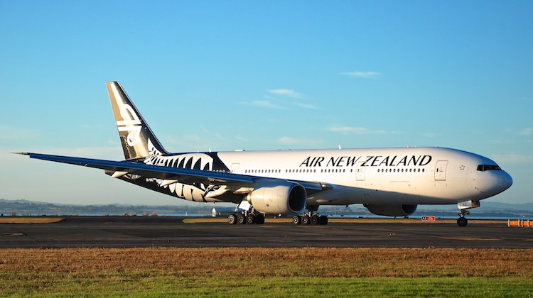 A file image of an Air New Zealand Boeing 777-200ER at Auckland Airport. (Andrew Aley)