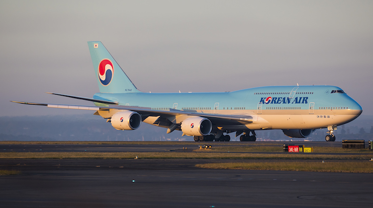 Korean Air Boeing 747-8I HL7642 at Sydney Airport. (Seth Jaworski)