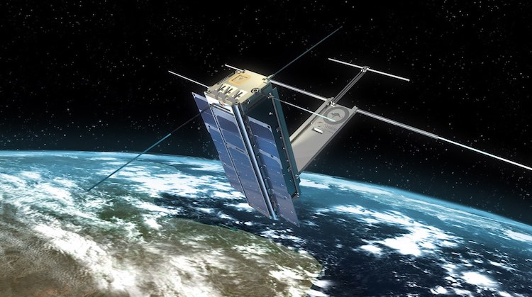 A supplied image of a cubesat miniature satellite. (UNSW Canberra)