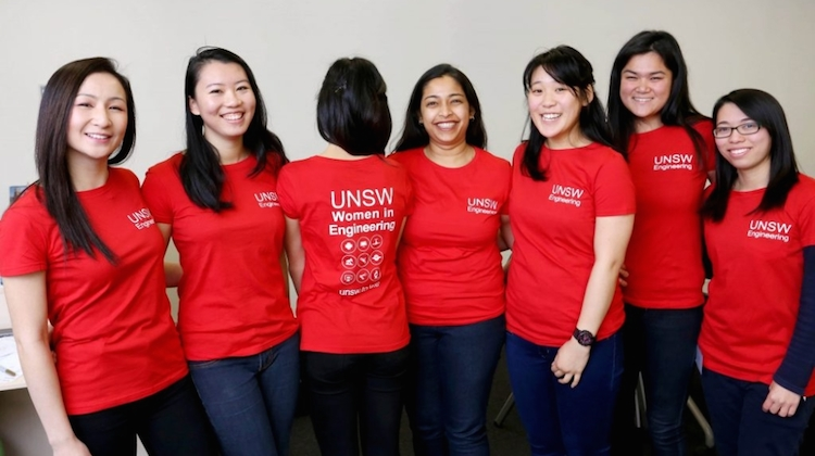 Members of the University of NSW's Women in Engineering Programme. (Airbus)