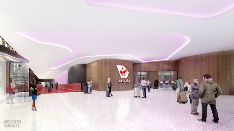 Virgin Australia's new Terminal 3 facilities at Melbourne Tullamarine will feature a premium entry for eligible frequent flyers. (Virgin Australia)