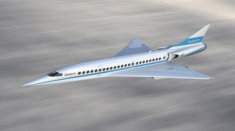 An artist's impression of the Boom Supersonic aircraft. (Boom)