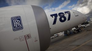 A file image of a Boeing 787 featuring Rolls-Royce Trent 1000 engines. (Rolls-Royce)